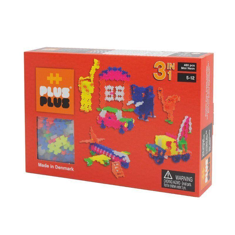 Plus Plus 3 En 1 Pack Mini Néon - 480 Pièces