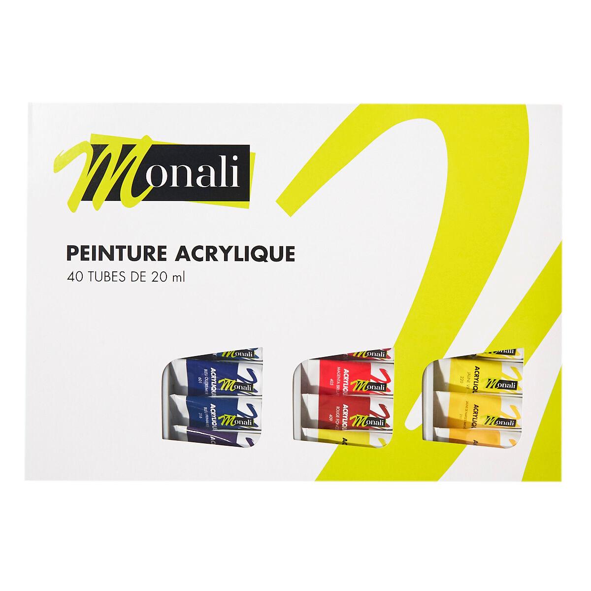 Coffret De 40 Tubes De 20 Ml - Peinture Acrylique - Monali