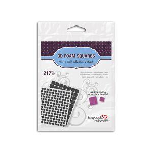 TOGA - adhésif de montage - 13 x 13 x 2 mm / 6 x 6 x 2 mm - noir - mousse (pack de 217) - Publicité