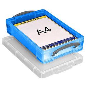 Boîte En Plastique Blanc Transparent Bleu De 4 L - Publicité