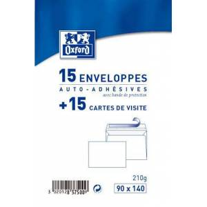 15 Cartes De Visites Et Enveloppes - Oxford