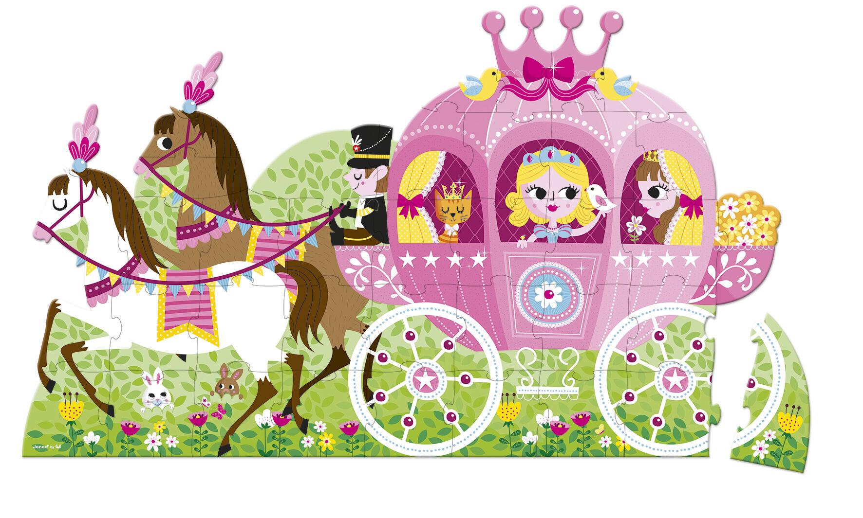 Valisette Puzzle Géant Princesse - 39 Pièces