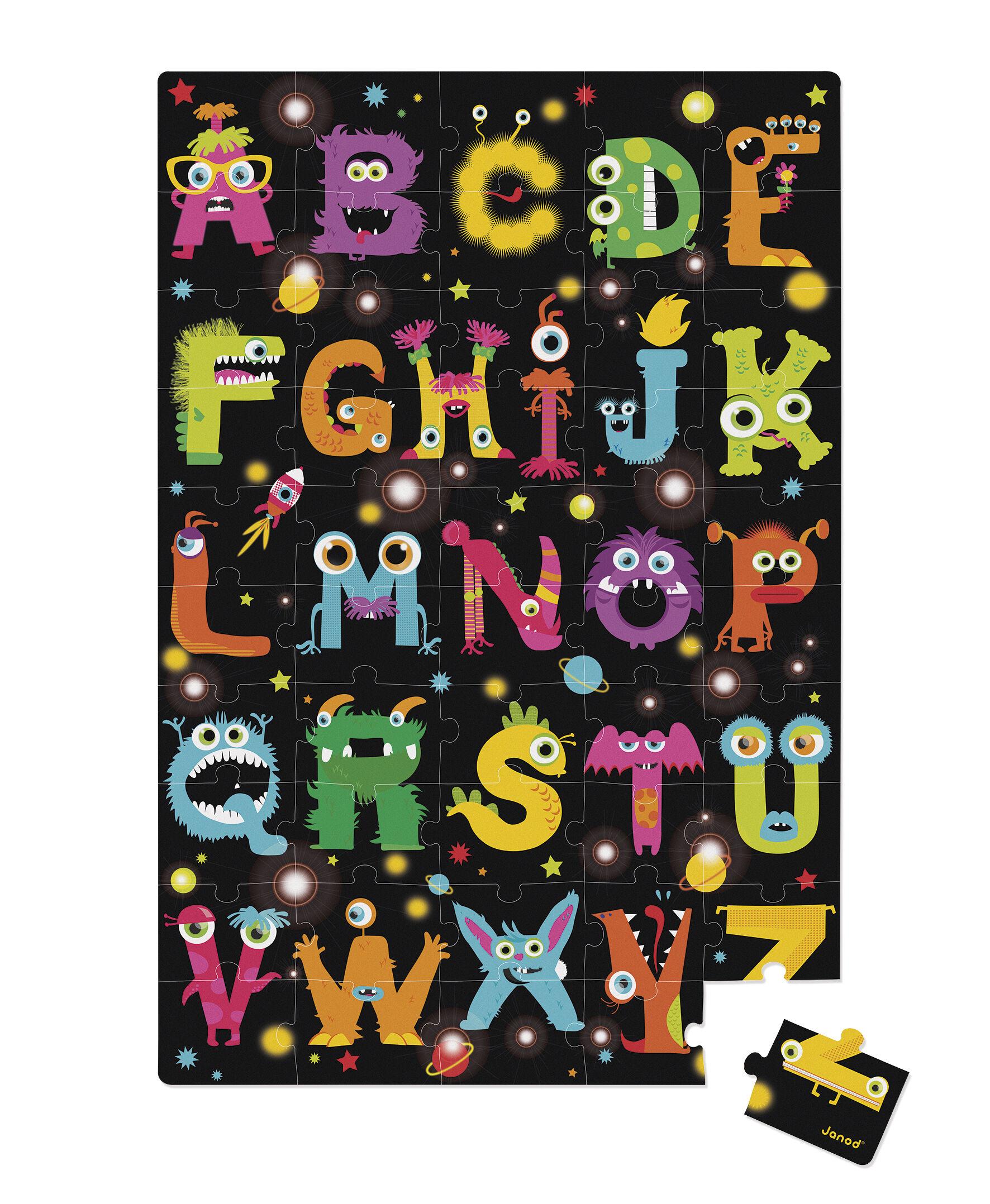 Valisette Puzzle Géant Monsters - 50 Pièces