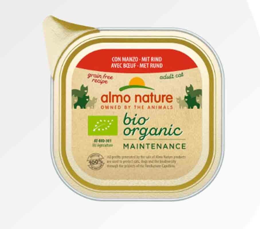 Bio Organic Almo Nature Bio Organic Maintenance avec Boeuf pour chat 19 x 85 g
