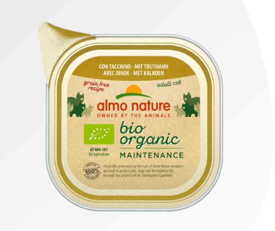 Bio Organic Almo Nature Bio Organic Maintenance avec Dinde pour chat 19 x 85 g