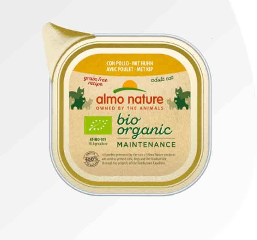 Bio Organic Almo Nature Bio Organic Maintenance avec Poulet pour chat 19 x 85 g