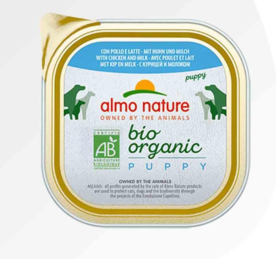 Bio Organic Almo Nature Chien Bio Organic Maintenance Puppy poulet et lait 9 x 300 grs