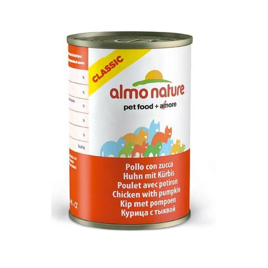 Almo Classic Almo Nature Chat Classic Poulet avec Potiron 24 x 140 g