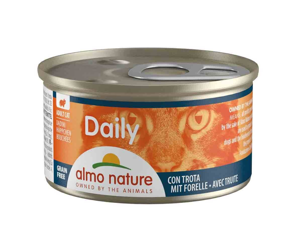 Almo Daily Menu Bio Almo Nature Chat Daily Grain Free bouchées avec truite 24 x 85 grs