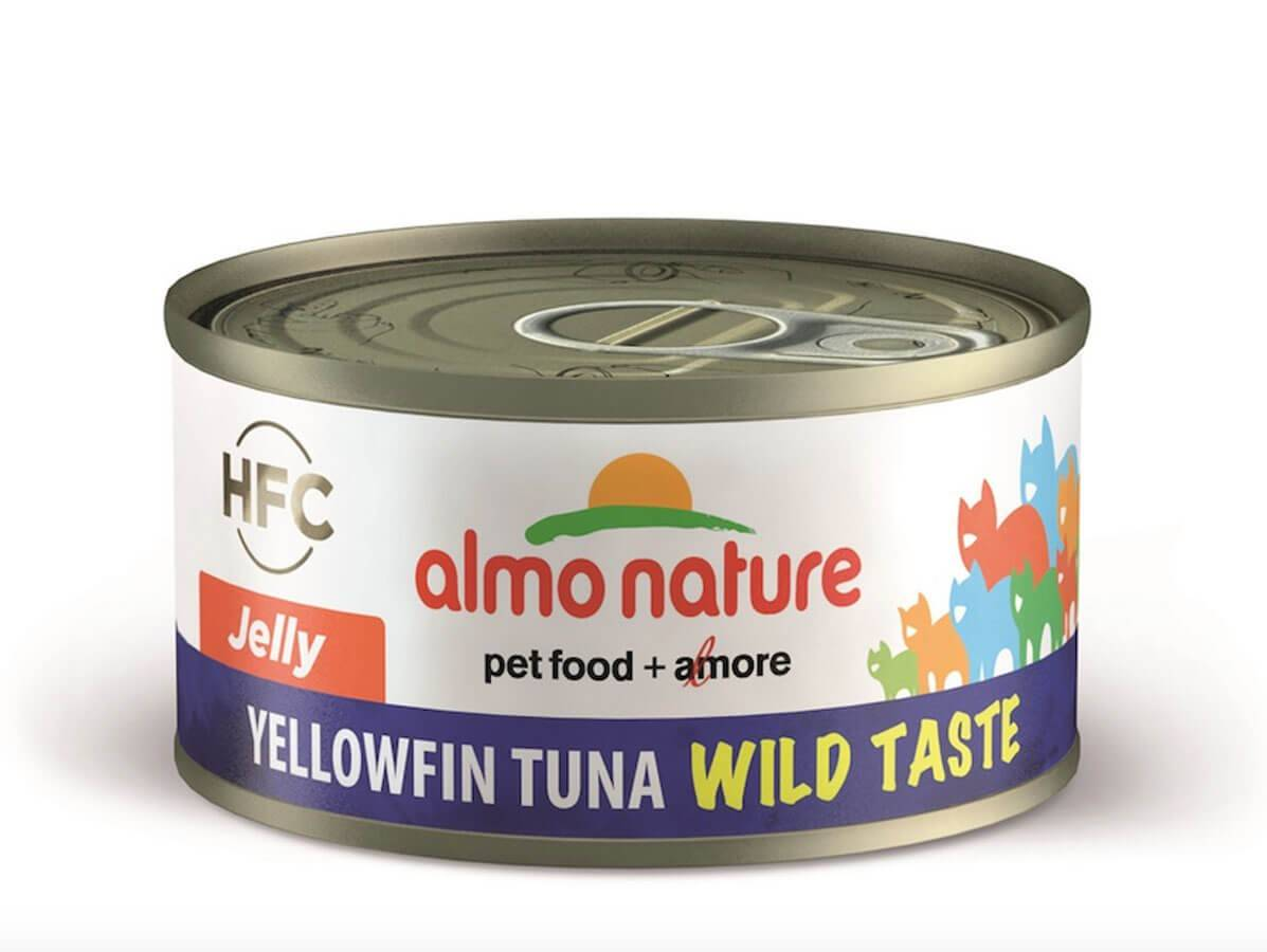 HFC Almo Nature Chat HFC Wild Taste Jelly Yellowfin Thon 24 x 70 g