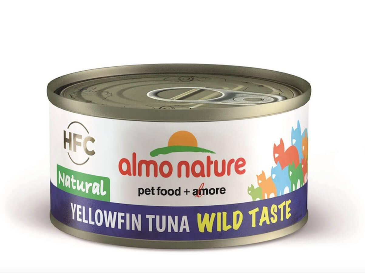 HFC Almo Nature Chat HFC Wild Taste Natural Yellowfin Thon 24 x 70 g