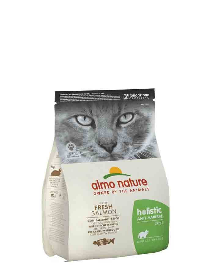 Almo Anti Hairball Almo Nature Chat Holistic Anti Hairball Poisson et pommes de terre 2 kg