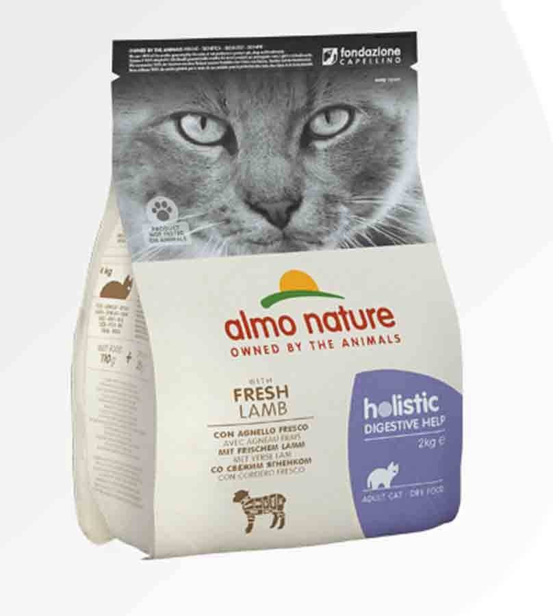 Almo Sterilised Almo Nature Chat Holistic Digestive Help agneau frais 2 kg