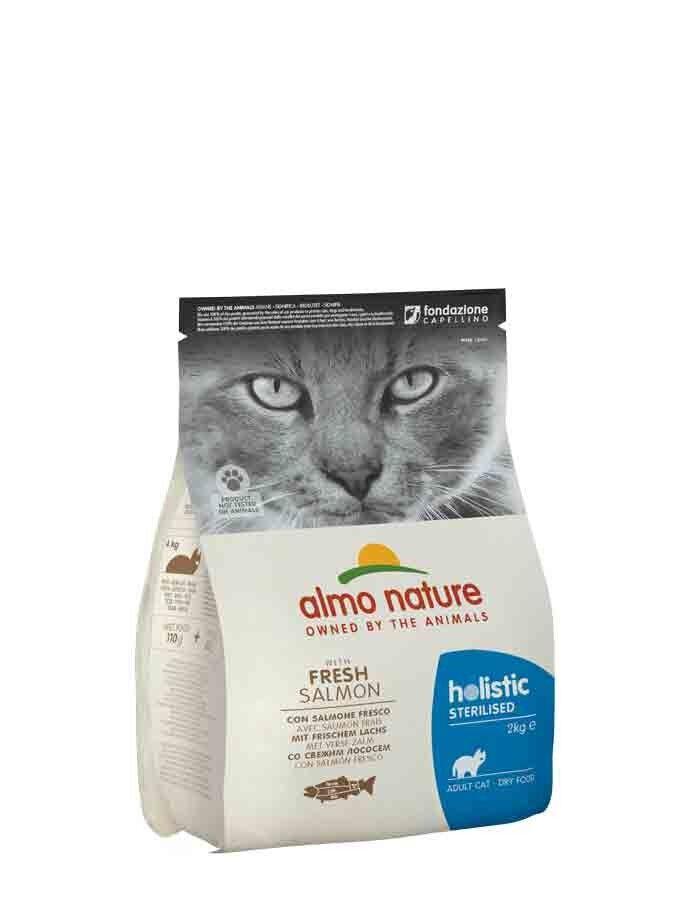 Almo Sterilised Almo Nature Chat Holistic Sterilised Saumon et riz 2 kg