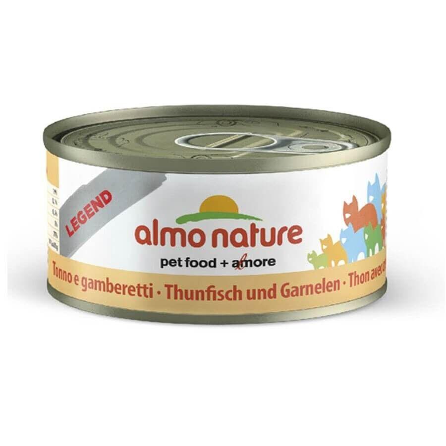 Almo Classic Almo Nature Chat Legend Thon avec crevettes 6 x 70 grs