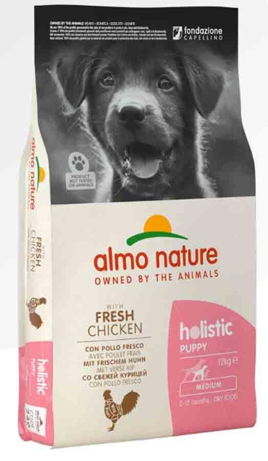 Holistic Almo Nature Holistic Chien Puppy Medium Poulet frais 12 kg
