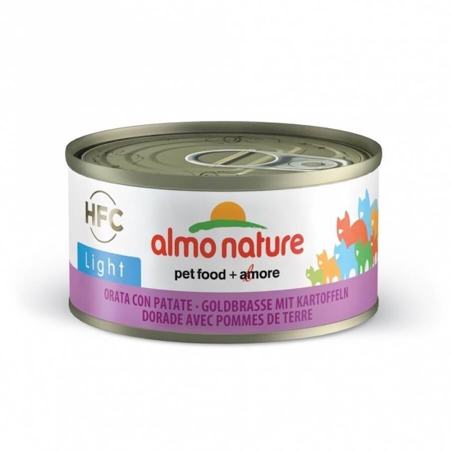 HFC Almo Nature Chat Light HFC Dorade et Pomme de Terre 24 x 70 g