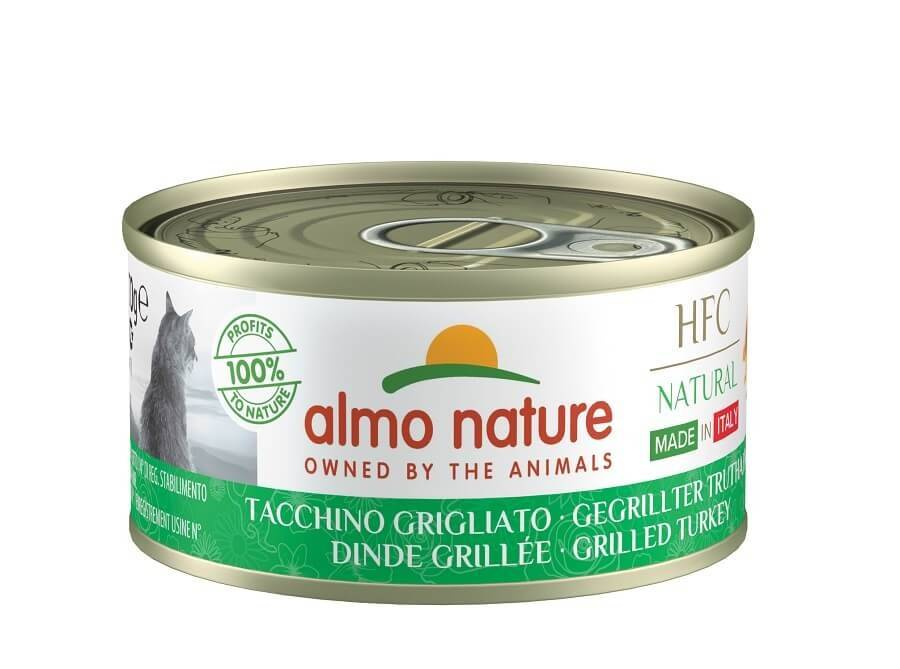 Almo HFC Natural Almo Nature Chat Natural HFC Sans Céréales Made In Italy Dinde Grillée 24 x 95 g