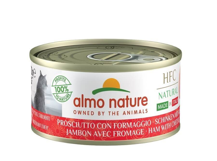 Almo HFC Natural Almo Nature Chat Natural HFC Sans Céréales Made In Italy Jambon Parmesan 24 x 95 g