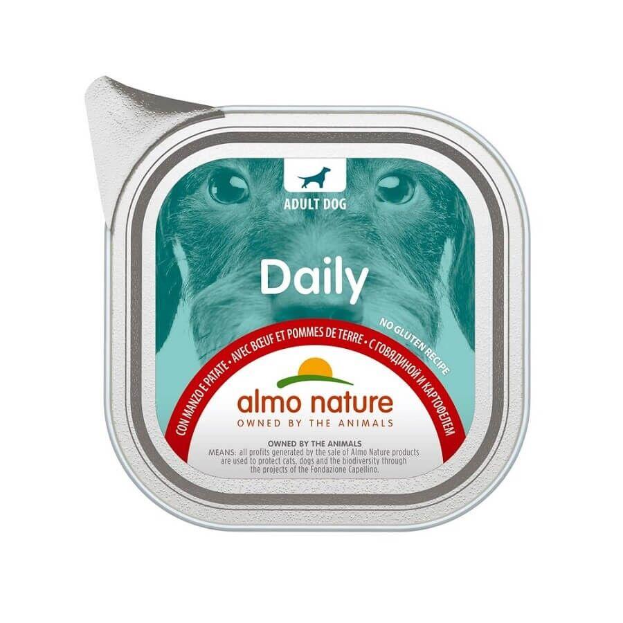 Almo Daily Menu Almo Nature Chien Daily Sans Gluten boeuf et pomme de terre 32 x 100 g