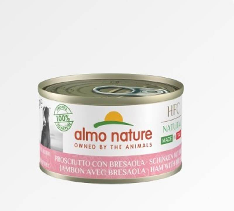Almo HFC Natural Almo Nature Chien Natural HFC Made In Italy Jambon Bresaola 24 x 95 g