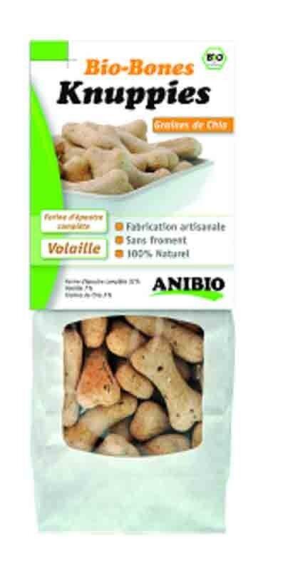 Anibio Knuppies Bio Bones Graines de Chia 220 g