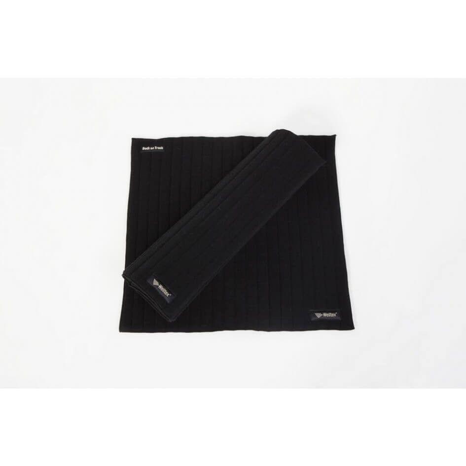 Back On Track Sous Bandes Scandic pour Cheval noir 40 x 40 cm