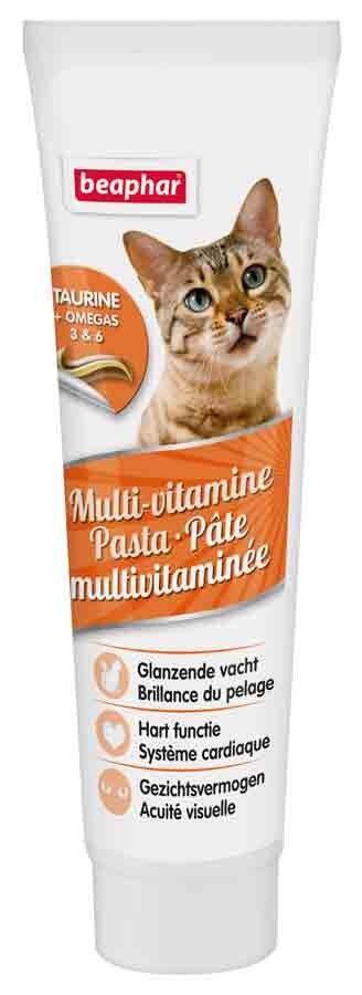 Beaphar Pâte Multivitaminé à la taurine et omégas pour chat 100 grs