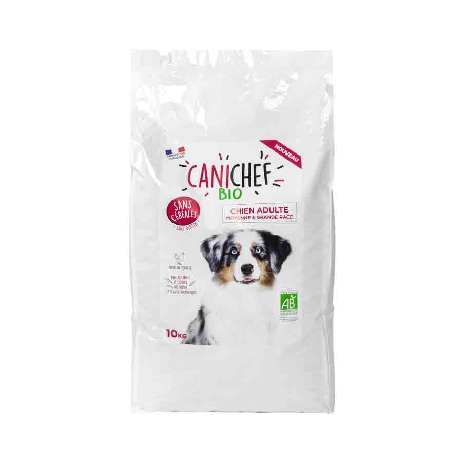 Canichef croquettes BIO sans céréales, sans gluten chien grande race 10 kg