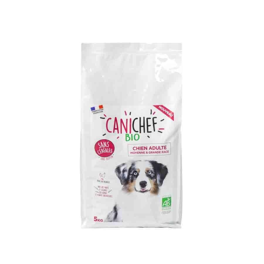 Canichef croquettes BIO sans céréales, sans gluten chien grande race 5 kg