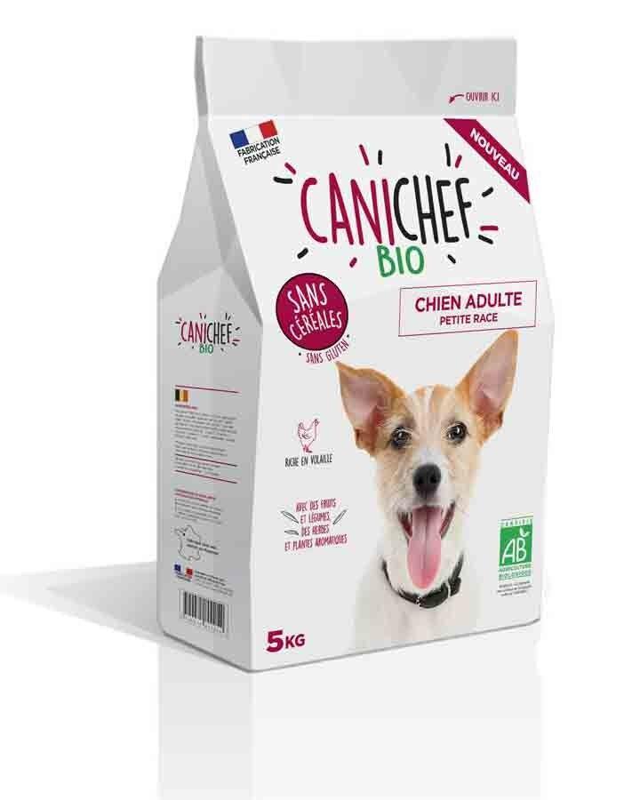 Canichef croquettes BIO sans céréales, sans gluten chien petite race 5 kg
