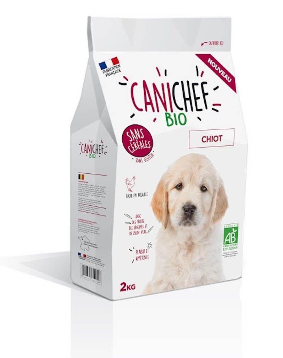 Canichef croquettes BIO sans céréales, sans gluten chiot 2 kg