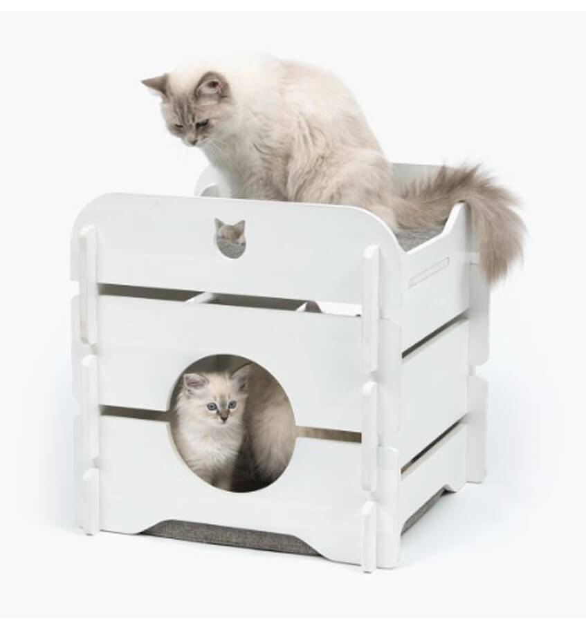 Cat It Meuble Vesper Cottage blanc pour chat