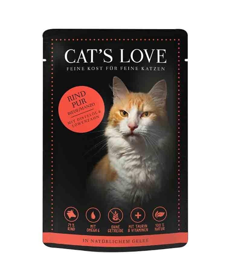 Cat's Love Classic Boeuf sans céréales et sans gluten 12 x 85 g