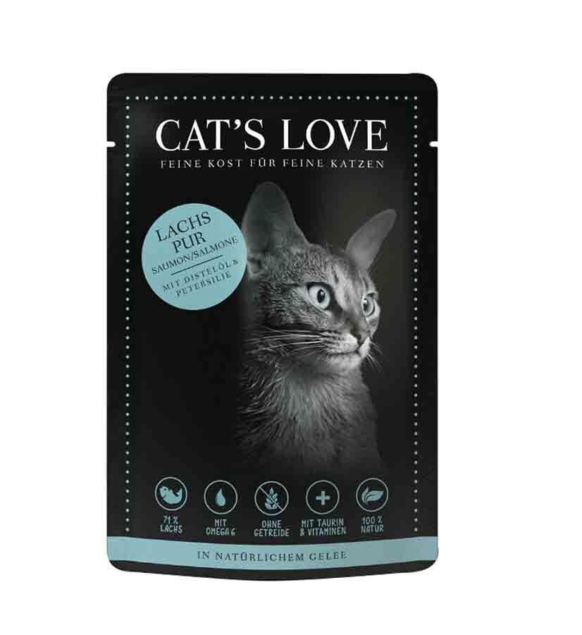 Cat's Love Classic Saumon sans céréales et sans gluten 12 x 85 g