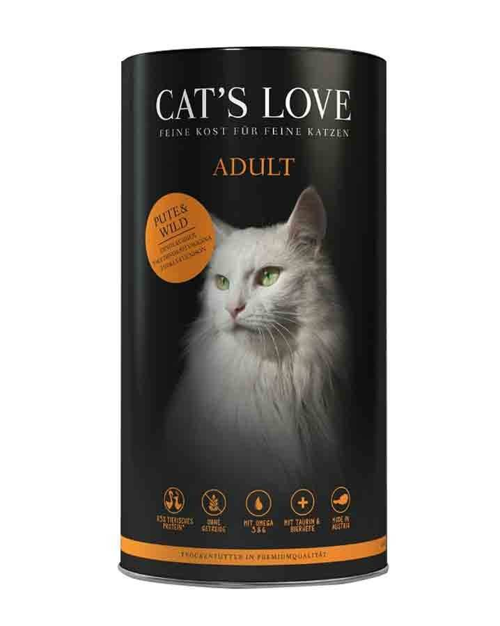 Cat's Love Croquettes Adulte dinde et gibier sans céréales et sans gluten 1 kg