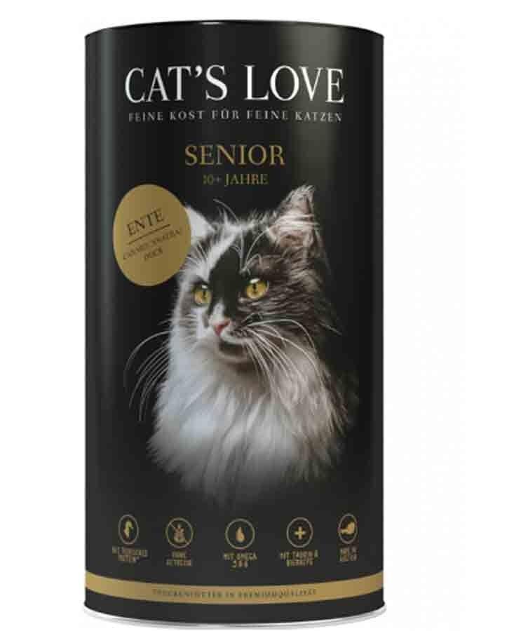 Cat's Love Croquettes Senior au canard sans céréales et sans gluten 1 kg
