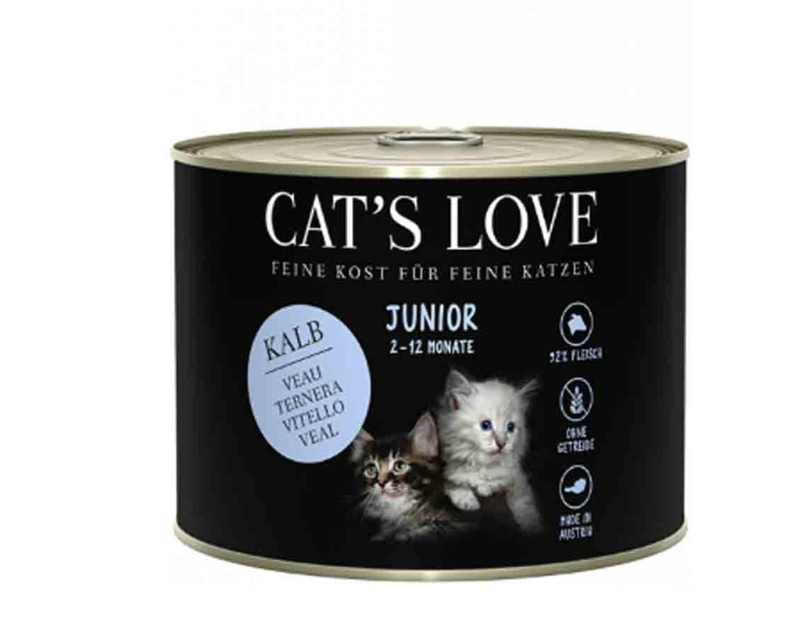 Cat's Love Junior Veau sans céréales et sans gluten 6 x 200 g