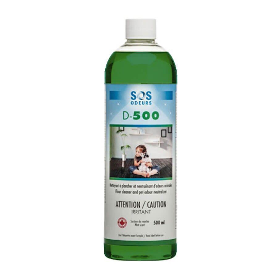 SOS Odeurs D-500 nettoyant sol et neutralisant odeurs 500 ml
