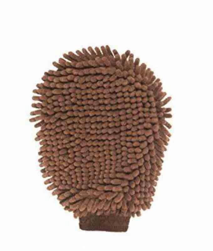 Gloria DGS Dirty Dog Grooming Mitt gant de toilettage marron 25 x 18 cm