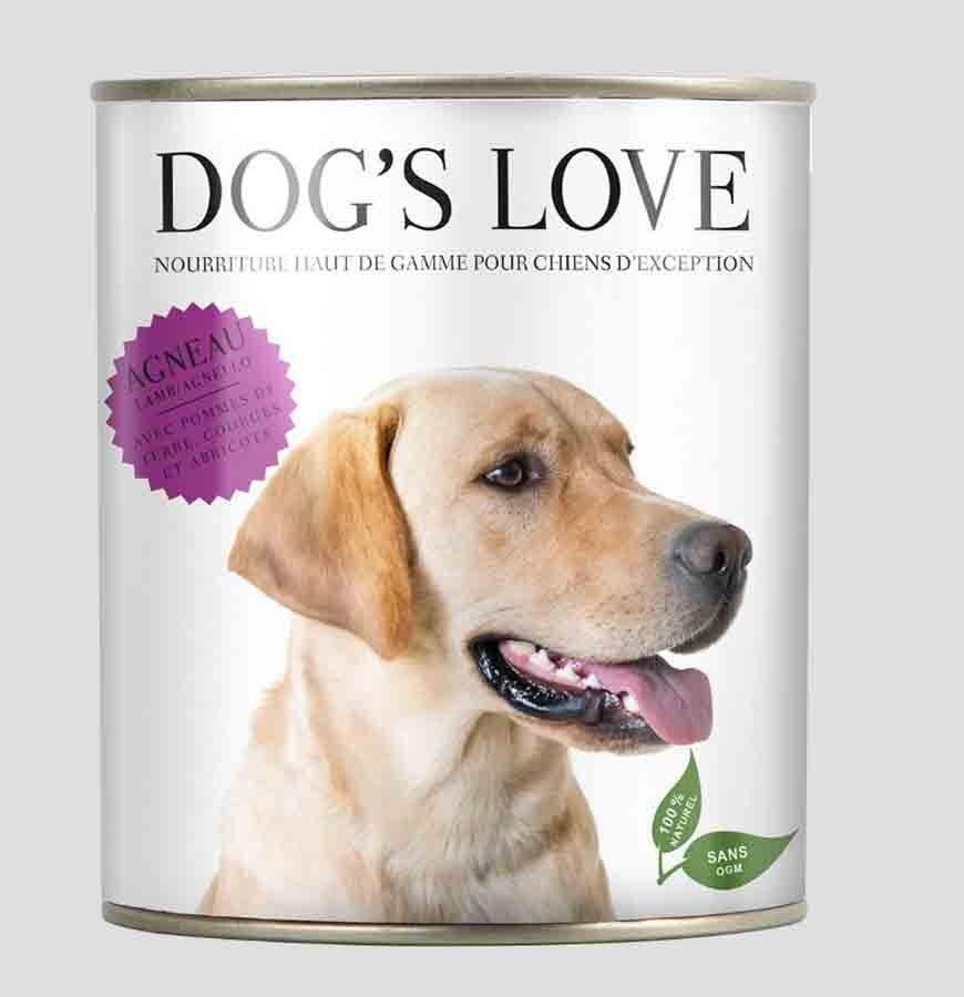 Dog's Love Chien Adulte agneau sans céréales et gluten boites 6 x 200 g