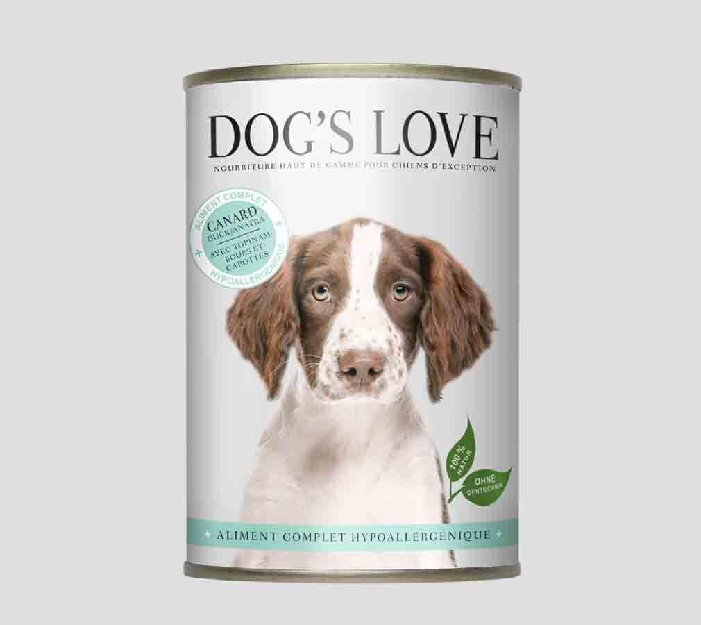 Dog's Love Hypoallergenic canard sans céréales et sans gluten boites 6 x 400 g
