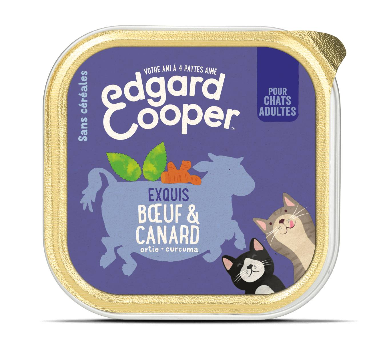 Edgard & Cooper Exquis Boeuf & Canard pour chat adulte 19 x 85 g