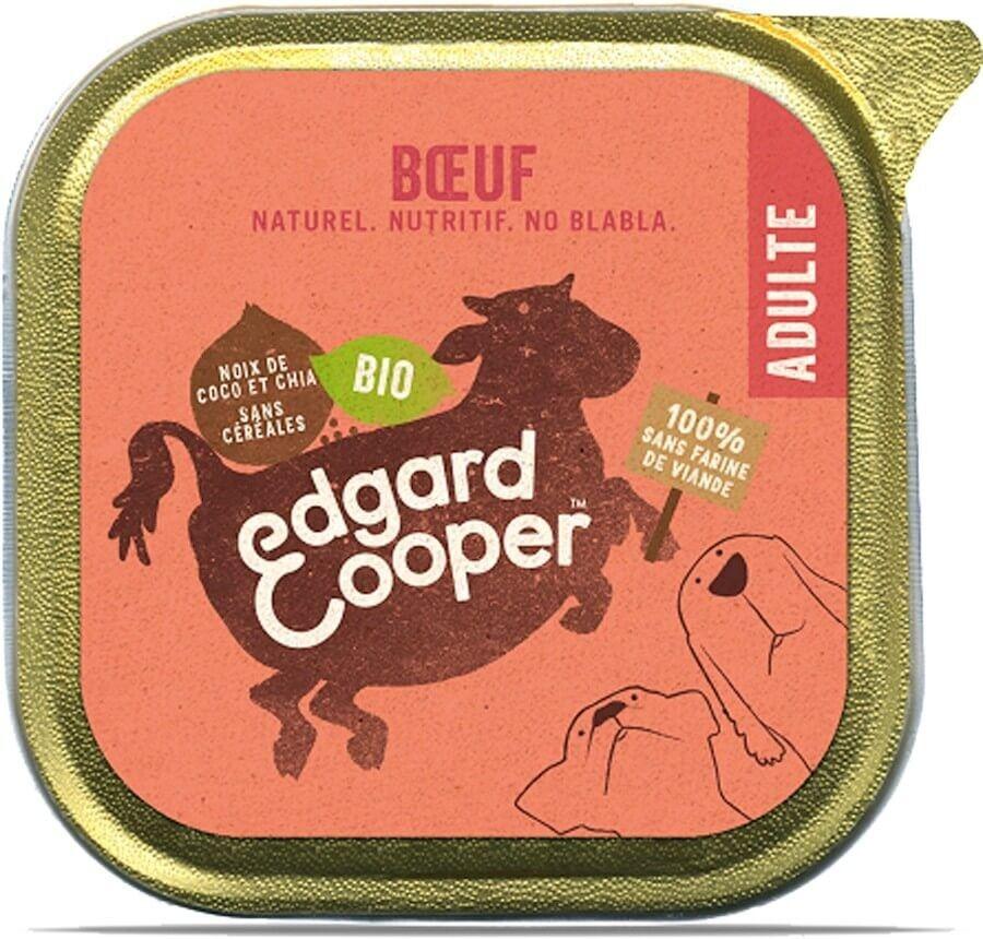 Edgard & Cooper Barquette Bœuf Bio pour chien 17 x 100 g