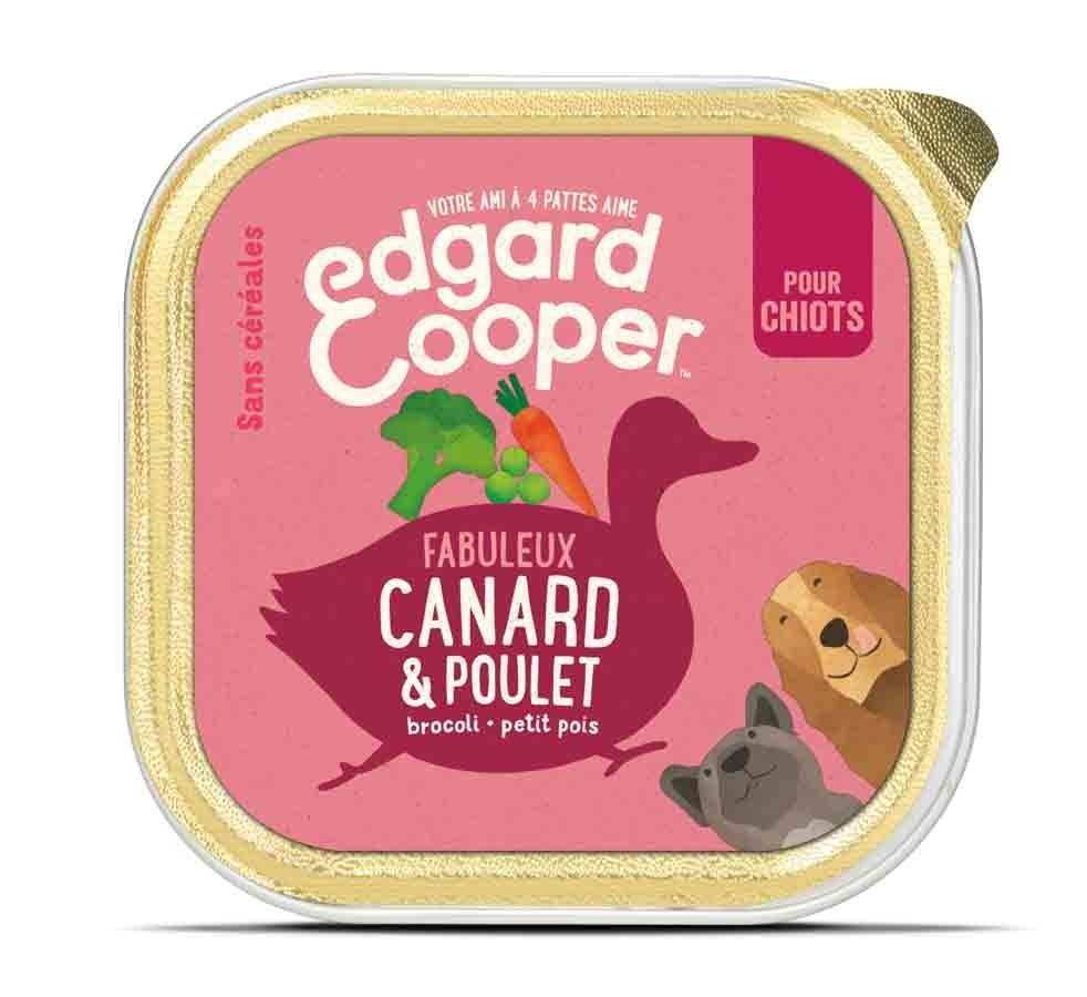 Edgard & Cooper Barquette Poulet & Canard Chiot 11 x 150 g