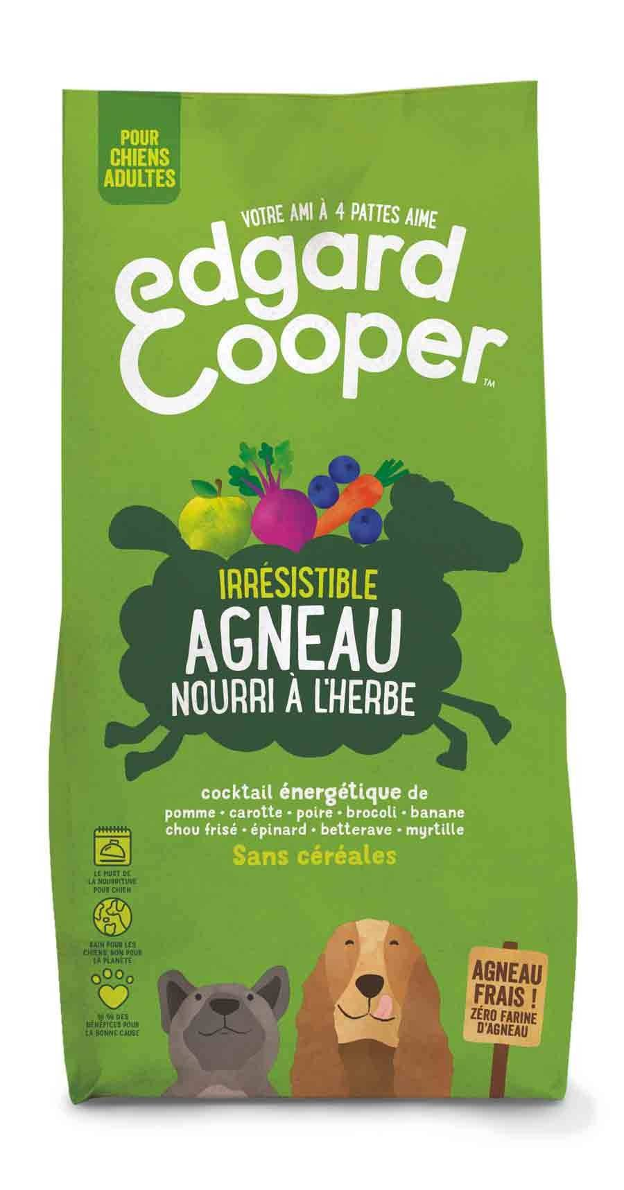 Edgard & Cooper Croquettes Agneau frais sans céréales Chien Adulte 7 kg