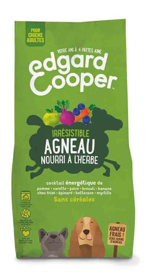 Edgard & Cooper Croquettes Agneau frais sans céréales Chien Adulte 12 kg