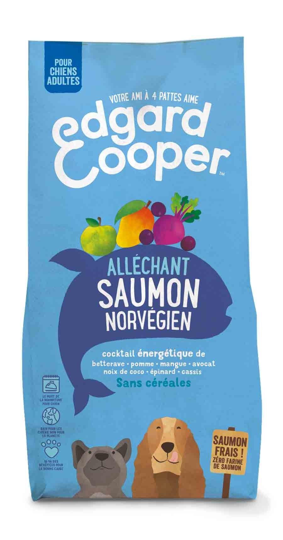 Edgard & Cooper Croquettes au Saumon Norvégien Frais Chien Adulte 7 kg