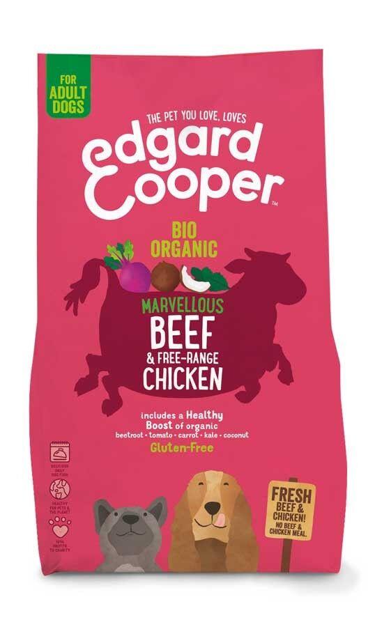 Edgard & Cooper Croquettes BIO au Boeuf et Poulet frais Chien Adulte 7 kg