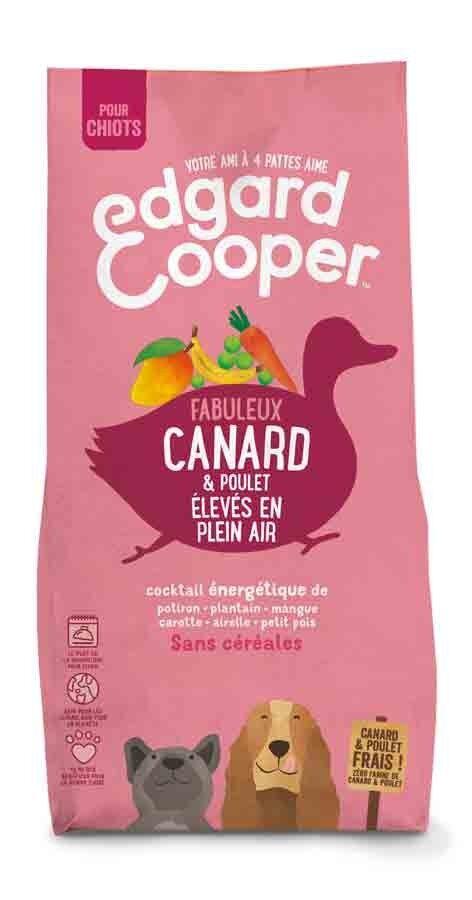 Edgard & Cooper Croquettes Canard et Poulet frais sans céréales Chiot 12 kg